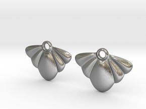 Seashell Earring Set in Natural Silver