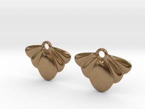 Seashell Earring Set in Natural Brass