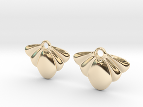 Seashell Earring Set in 14K Yellow Gold