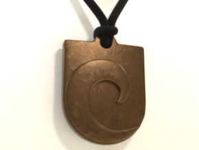 Waveguard Pendant in Polished Bronze Steel