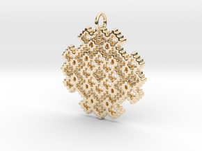 Point Twill Pendant in 14K Yellow Gold