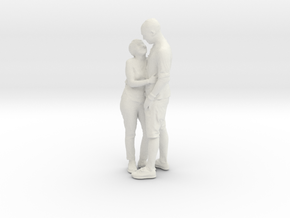 Printle C Couple 022 - 1/24 - wob in White Strong & Flexible