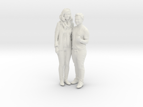 Printle C Couple 024 - 1/24 - wob in White Strong & Flexible