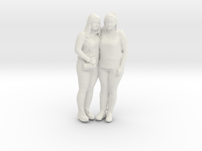 Printle C Couple 028 - 1/24 - wob in White Strong & Flexible