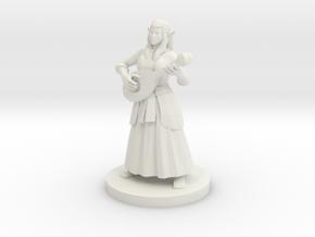 Female Elf Bard in White Strong & Flexible