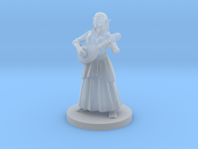 Female Elf Bard in Smooth Fine Detail Plastic