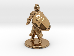 Medieval Knight in Polished Brass