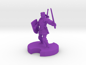 Medieval Knight 2 in Purple Processed Versatile Plastic