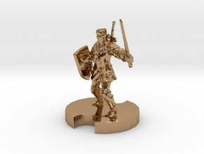 Medieval Knight 2 in Polished Brass