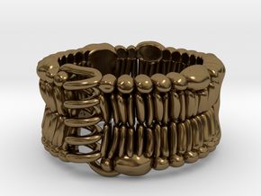 Cell Membrane Ring - Science Jewelry in Polished Bronze: 7.5 / 55.5