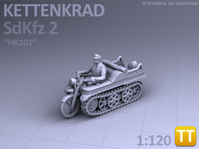 Sd.Kfz 2 - KETTENKRAD - (1:120) TT in Smooth Fine Detail Plastic