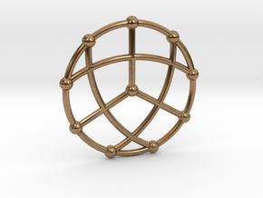 Petersen Graph Pendant, Variation 1 in Natural Brass
