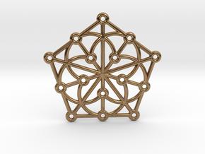 Generalized Quadrangle Pendant in Natural Brass