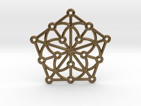 Generalized Quadrangle Pendant in Natural Bronze