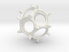 Quarter Spinner in White Natural Versatile Plastic