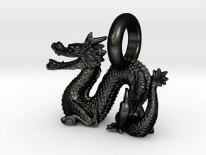 Dragon in Matte Black Steel