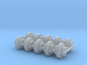 """1:87 24"""" Pipe Flange Ver3 10ea in Smooth Fine Detail Plastic"""