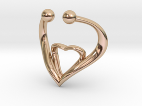 The Heart Fake septum ring nose, ring septum jewel in 14k Rose Gold Plated Brass