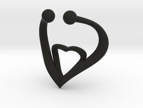 The Heart Fake septum ring nose, ring septum jewel in Black Natural Versatile Plastic