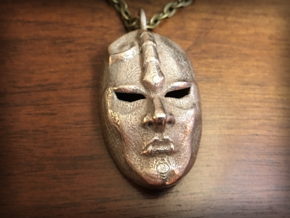 JoJo' s Bizarre Adventure Stone Mask in Polished Bronzed Silver Steel
