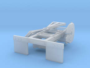 1/53 Tandem Dolly for trailers in Smooth Fine Detail Plastic