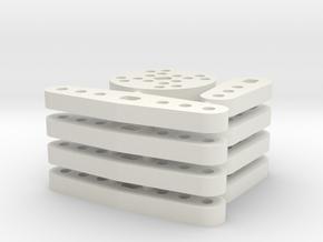 Lenkungsdaempferhebel in White Natural Versatile Plastic