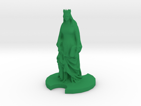 Medieval Queen in Green Processed Versatile Plastic