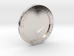 Ethereum Poker Chip/Ball Marker in Platinum