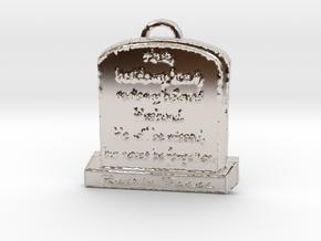 Memorial Pendant in Platinum: Large