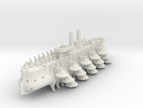 Trireme Airship in White Natural Versatile Plastic: 1:700