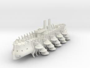 Trireme Airship in White Natural Versatile Plastic: 1:700