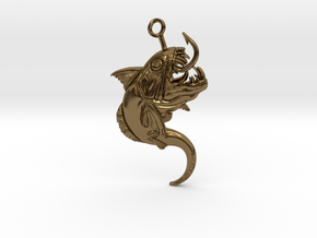 Innsmouth Critter Keychain in Polished Bronze