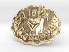 I Love St. Pietroburgo Belt Buckle in 14K Yellow Gold