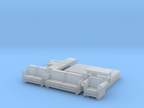 N Scale House Furniture 70s-80s in Frosted Ultra Detail
