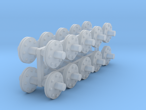 1:48 scale - 6in pipe flanges - Ver3 - 20ea in Smooth Fine Detail Plastic
