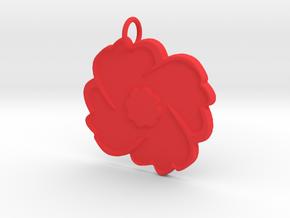 Poppy Pendant in Red Processed Versatile Plastic