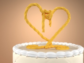 Tying The Knot Cake Topper in Yellow Strong & Flexible Polished: Medium