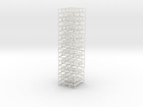 Void Jenga Mini in White Natural Versatile Plastic