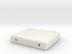 Catch Can Angled Bracket in White Natural Versatile Plastic