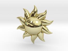 Sun Earrings in 18k Gold Plated Brass