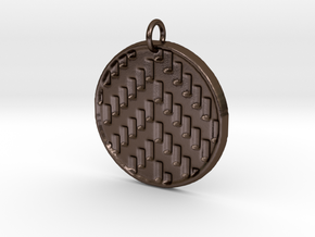 Herringbone Pendant in Polished Bronze Steel