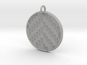 Herringbone Pendant in Aluminum