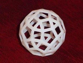 Rhombicosidodecahedron in White Strong & Flexible