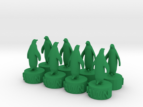 Penquin Pawns in Green Processed Versatile Plastic