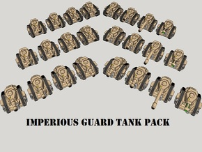 3mm Imperious Guard Battle Tanks (24pcs) in Smooth Fine Detail Plastic