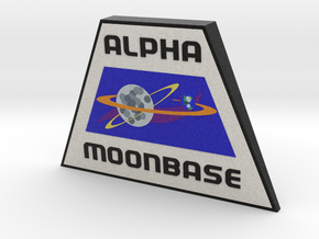 Moonbase Alpha Plaque (Space: 1999) = DESKAPADES = in Full Color Sandstone: Small