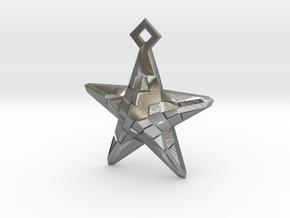 Stylised Sea Star Earring in Raw Silver