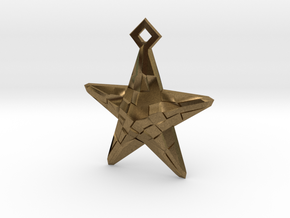 Stylised Sea Star Earring in Natural Bronze