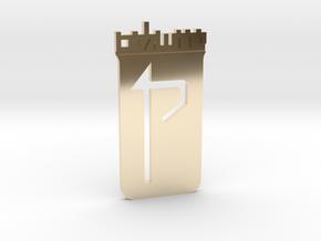 Custom Logo Lapel Pin in 14k Gold Plated Brass