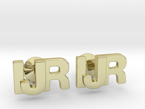 Monogram Cufflinks IJR in 18k Gold Plated Brass
